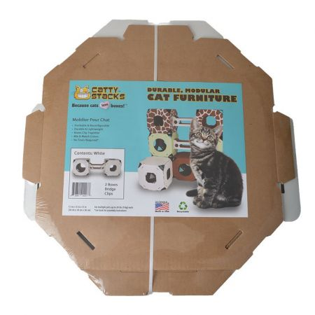 Catty Stacks Catty Stacks 2 Box & Bridge Kit - White