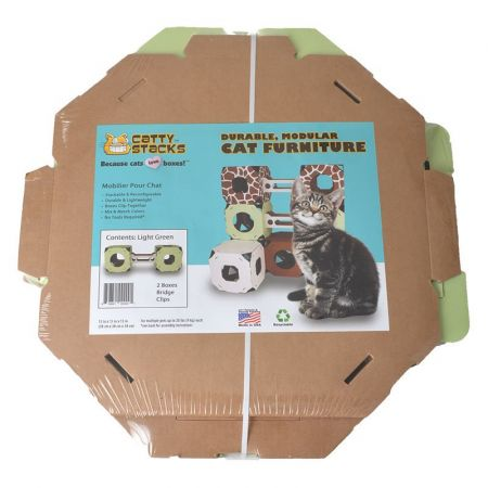 Catty Stacks Catty Stacks 2 Box & Bridge Kit - Green