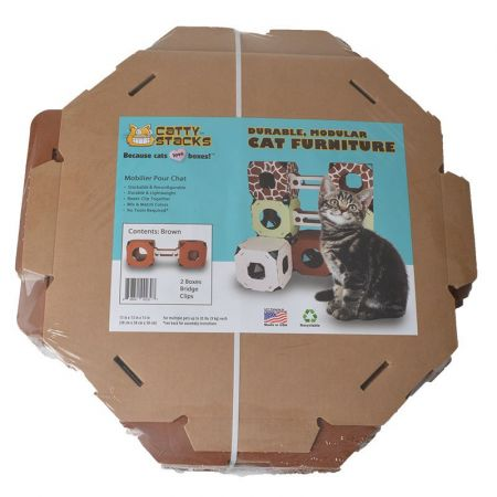 Catty Stacks Catty Stacks 2 Box & Bridge Kit - Brown
