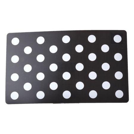 Petmate Petmate Plastic Food Mat - Black & White Dots