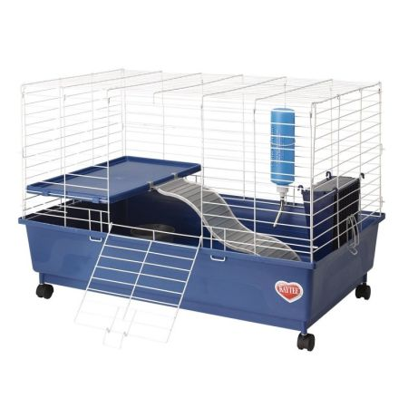 Kaytee Kaytee My First Home Deluxe Guinea Pig 2-Level Cage with Wheels