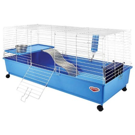 Kaytee Kaytee My First Home Deluxe Rabbit 2-Level Cage with Wheels