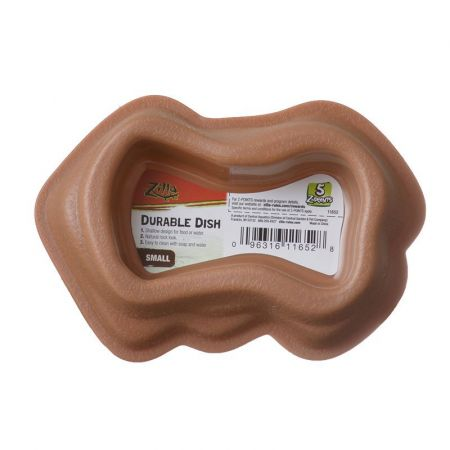 Zilla Zilla Durable Dish for Reptiles - Brown