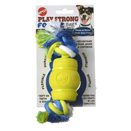 Spot Spot Play Strong Foamz Dog Toy - Chew with Rope