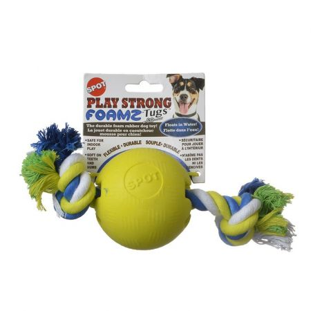 Spot Play Strong Foamz Dog Toy - Ball with Rope