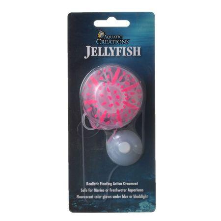Aquatic Creations Aquatic Creations Glowing Jellyfish Aquarium Ornament - Pink