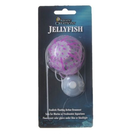 Aquatic Creations Aquatic Creations Glowing Jellyfish Aquarium Ornament - Purple