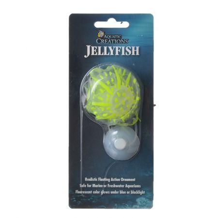 Aquatic Creations Aquatic Creations Glowing Jellyfish Aquarium Ornament - Yellow