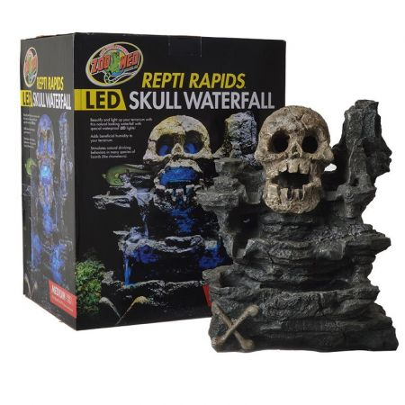 Zoo Med Zoo Med Repti Rapids Led Skull Waterfall Decorations