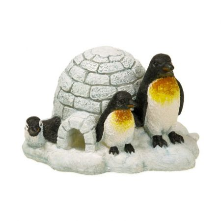 Blue Ribbon Pet Products Exotic Environments Penguin Island Aquarium Ornament