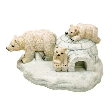 Blue Ribbon Pet Products Exotic Environments Polar Bear Island Aquarium Ornament
