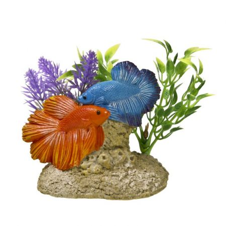 Blue Ribbon Pet Products Exotic Environments Aquatic Scene with Bettas Aquarium Ornament