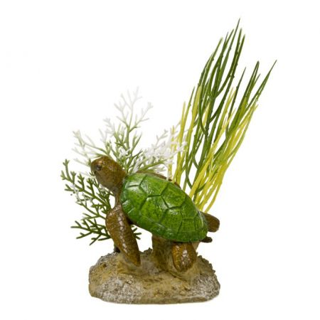 Blue Ribbon Pet Products Exotic Environments Aquatic Scene with Turtle Aquarium Ornament
