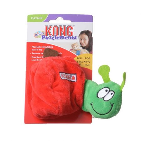 Kong Kong Puzzlements Escape Dog Toy - Apple/Worm