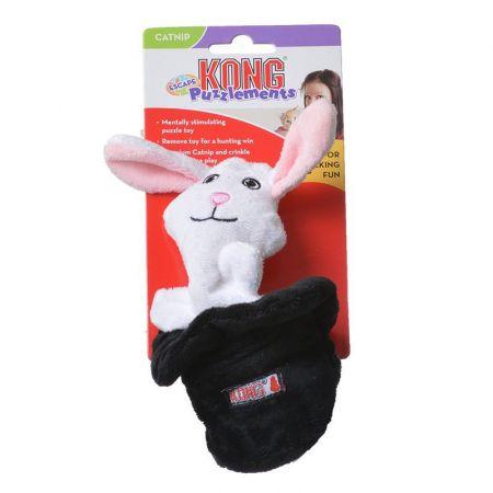Kong Kong Puzzlements Escape Dog Toy - Rabbit/Hat