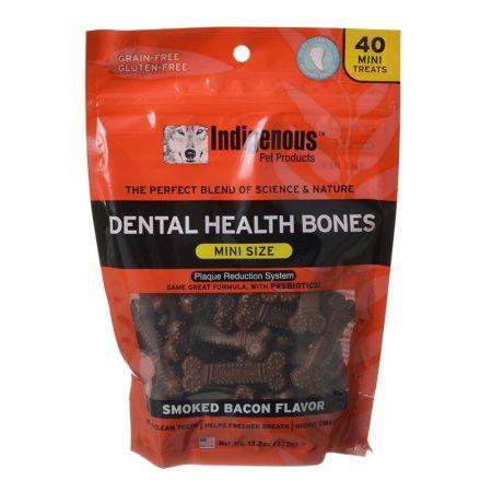 Indigenous Pet Products Indigenous Dental Health Mini Bones - Smoked Bacon Flavor