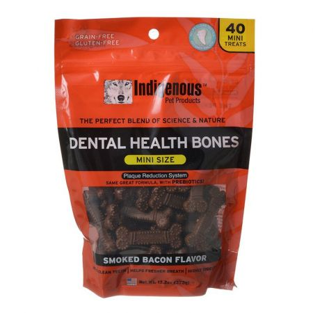 Indigenous Pet Products Indigenous Dental Health Bones - Smoked Bacon Flavor