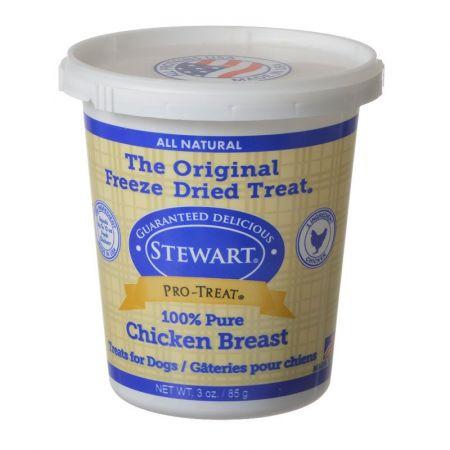 Gimborne Stewart Pro-Treat Freeze Dried Dog Treats - 100% Pure Chicken Breast