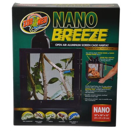 Zoo Med Nano Breeze Aluminum Screen Cage Habitat