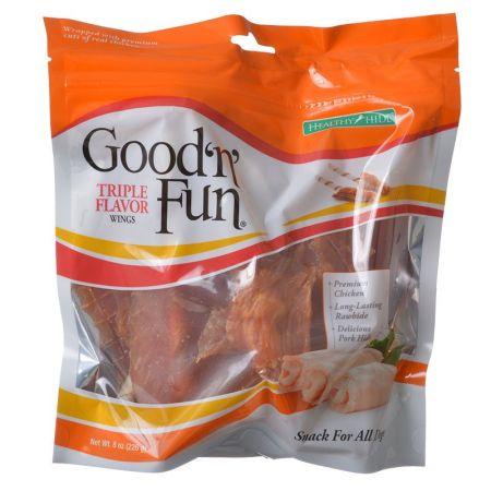 Healthy Hide Healthy Hide Good 'n' Fun Triple-Flavor Wings - Chicken, Rawhide & Pork Hide