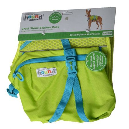 Outward Hound Outward Hound Crest Stone Explore Pack for Dogs - Green