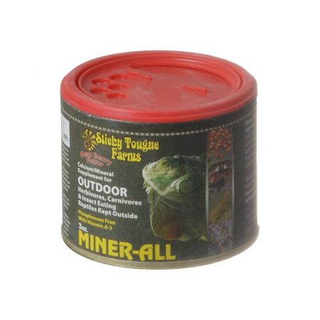 Sticky Tongue Farms Sticky Tongue Farms Miner-All Outdoor Reptile Supplement - Berry Flavor