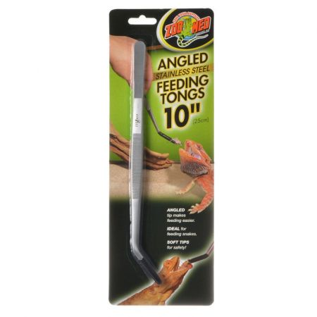 Zoo Med Zoo Med Angled Stainless Steel Feeding Tongs