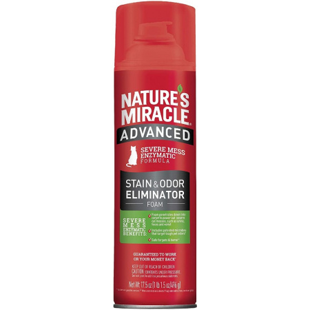 Natures Miracle Nature's Miracle Just for Cats Advanced Enzymatic Stain & Odor Eliminator Foam