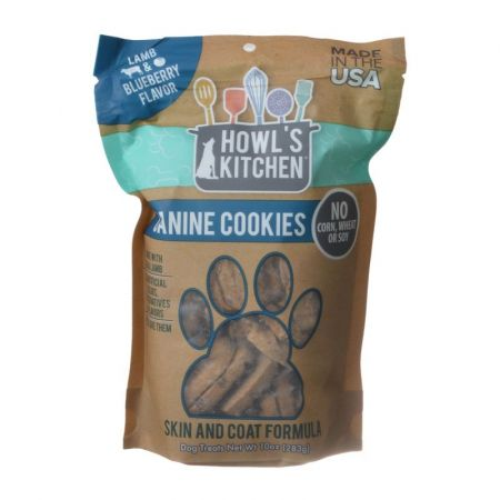 Howl's Kitchen Howl's Kitchen Canine Cookies Skin & Coat Formula - Lamb & Blueberry Flavor