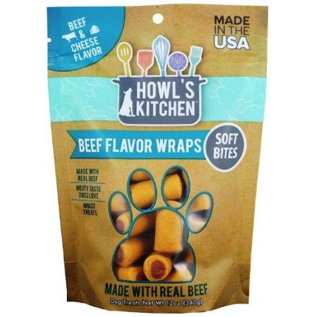 Howl's Kitchen Howl's Kitchen Beef Flavor Wraps Soft Bites - Beef & Cheese Flavor