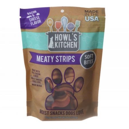 Howl's Kitchen Howl's Kitchen Meaty Strips Soft Bites - Bacon & Cheese Flavor