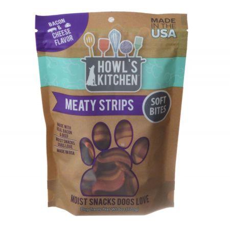 Howl's Kitchen Howl's Kitchen Meaty Strips Soft Bites - Bacon & Cheese Flavor