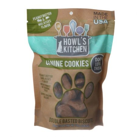 Howl's Kitchen Howl's Kitchen Canine Cookies Double Basted Biscuits - Peanut Butter & Molasses Flavor