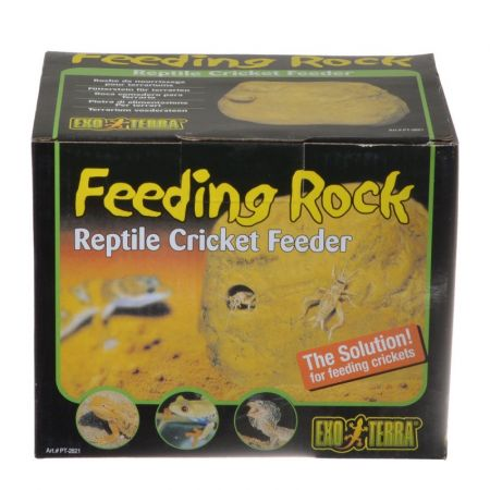 Exo-Terra Exo-Terra Feeding Rock Reptile Cricket Feeder