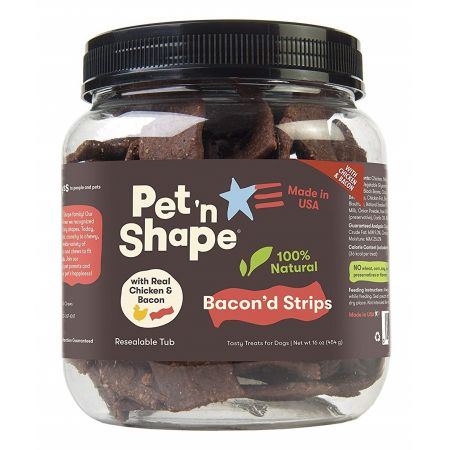 Pet 'n Shape Pet 'n Shape Bacon'd Strips with Chicken & Bacon