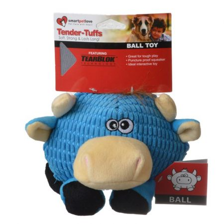 Smart Pet Love SmartPetLove Round Blue Cow Dog Toy
