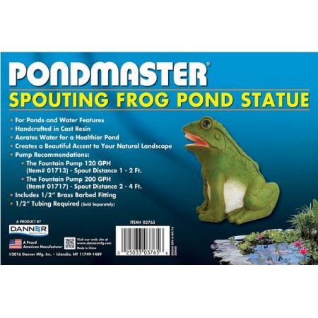 Pondmaster Resin Frog Spitter alternate view 1