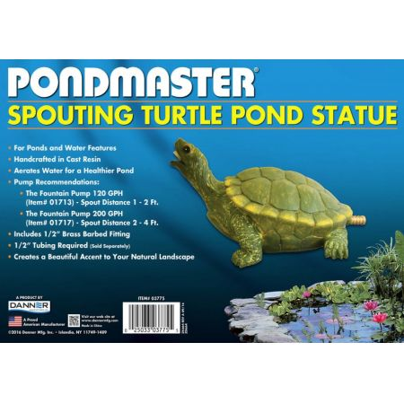 Pondmaster Resin Turtle Spitter alternate view 1