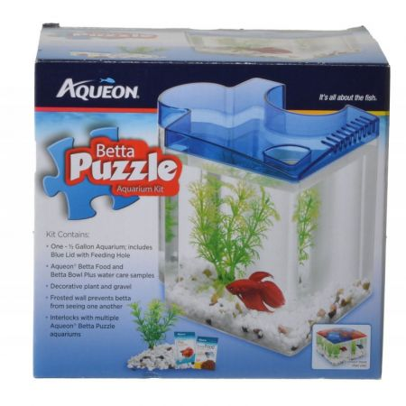 Aqueon Aqueon Betta Puzzle Aquarium Kit - Blue