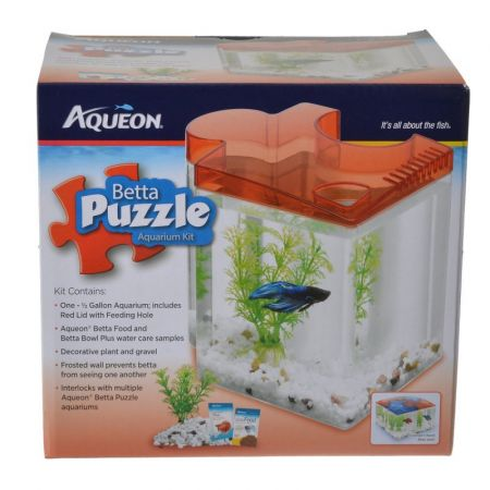 Aqueon Aqueon Betta Puzzle Aquarium Kit - Red
