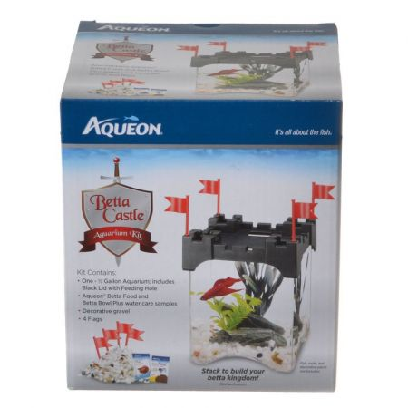 Aqueon Aqueon Betta Castle Aquarium Kit - Black