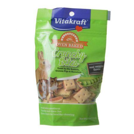 Vitakraft Vitakraft Oven Baked Crunchy Bites Small Pet Treats - Real Veggie Flavor