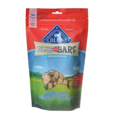 Blue Buffalo Blue Buffalo Blue Mini Bars Dog Biscuits - Baked with Chicken & Cheddar