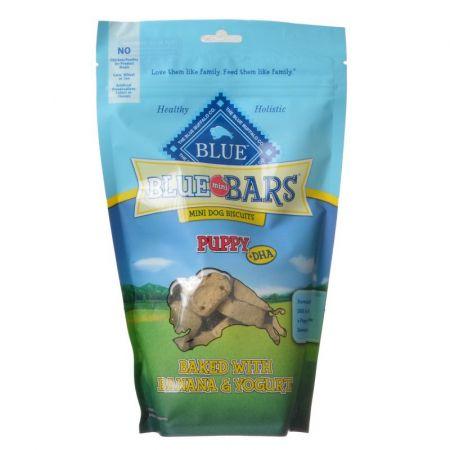 Blue Buffalo Blue Buffalo Blue Mini Bars Dog Biscuits for Puppies - Baked with Banana & Yogurt