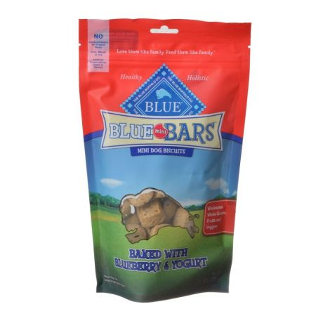 Blue Buffalo Blue Mini Bars Dog Biscuits - Baked with Blueberry & Yogurt