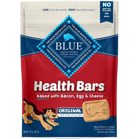 Blue Buffalo Blue Buffalo Health Bars Dog Biscuits - Baked with Bacon, Egg & Cheese