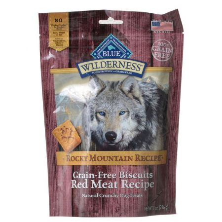 Blue Buffalo Blue Buffalo Wilderness Grain-Free Rocky Mountain Biscuits - Red Meat Recipe
