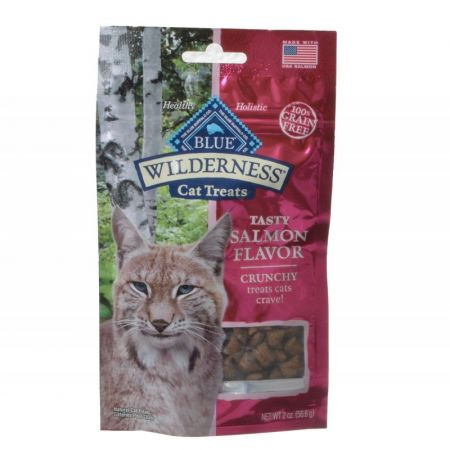 Blue Buffalo Blue Buffalo Wilderness Crunchy Cat Treats - Tasty Salmon Flavor
