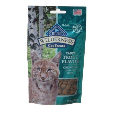 Blue Buffalo Wilderness Crunchy Cat Treats - Tasty Trout Flavor