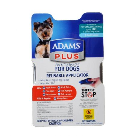 Adams Adams Plus Flea & Tick Spot On for Dogs with Reusable Applicator